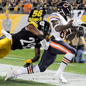 ChicagoBears.com  Earl Bennett reels his game-defining touchdown catch in the 4th quarter Sunday night in the Bears' 40-23 win at Pittsburgh.