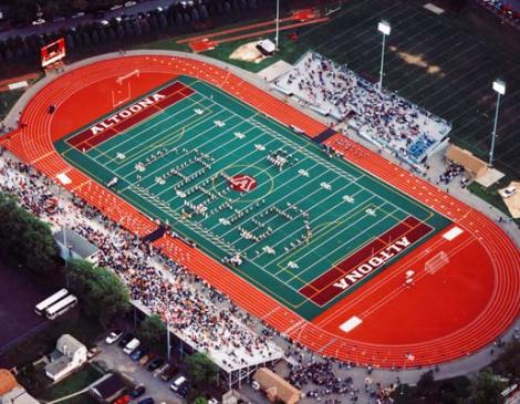 pennlive.com The view from above at Mansion Stadium in Altoona, Pa. If the NFL listens to our author, this place could host NFL football one day.