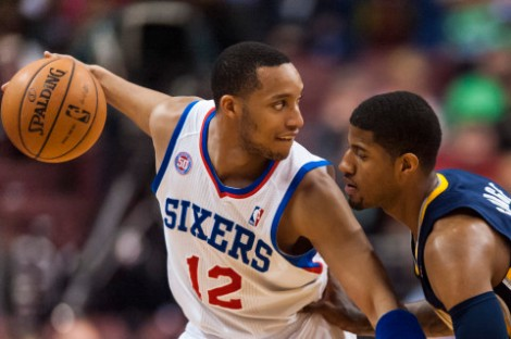 Howard Smith/USA TODAY Sports Former 76er Evan Turner posts up his new teammate, Paul George, in a recent battle with the Indiana Pacers. Turner doesn't have that problem anymore after being swapped for Danny Granger today.