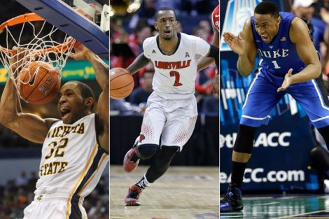 Image courtesy of Comcast Wichita State's Tekele Cotton (from left), Louisville's Russ Smith and Duke's Jabari Parker will all have a say in who advances in the Midwest Regional of the 2014 NCAA men's basketball tournament. Most are calling the Midwest the tourney's toughest region.