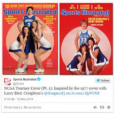 SI's tweet of its 2014 tournament preview cover next to its inspiration.