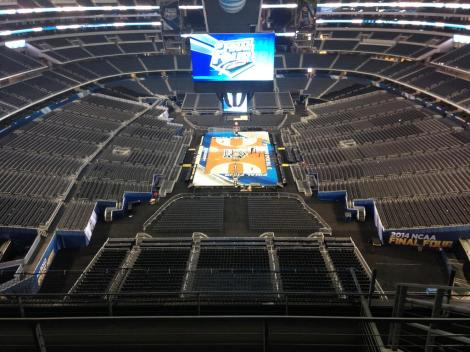 @FinalFour on Twitter The epic setup at AT&T Stadium for this weekend's Final Four.