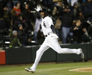 AP/Charles Rex Arbogast Alexei Ramirez celebrates after scoring the game-winning run off a throwing error by Boston Red Sox shortstop Xander Bogaerts during the ninth inning Tuesday at U.S. Cellular Field.