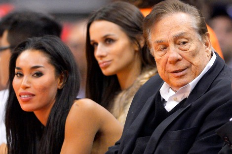 AP/Mark J. Terrill Infamous and More Infamous: V. Stiviano, left, watches a Clipper game last October with former boyfriend Donald Sterling.