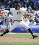 Getty Images Samardzija on the bump in the throwback Chicago Federals jersey Wednesday afternoon.