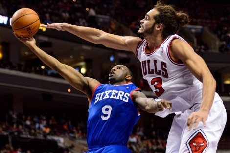 Howard Smith/USA TODAY Sports James Anderson was one of the many to feel Joakim Noah's defensive pressure this season. Monday Noah was named NBA Defensive Player of the Year.