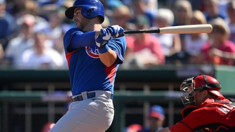 Joe Camporeale/USA TODAY Sports Prospective every-day 3rd baseman Mike Olt takes a swing during swing training.