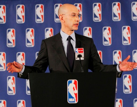 Andy Marlin/USA TODAY Sports NBA commissioner Adam Silver addresses the media this afternoon regarding the issue of Clippers owner Donald Sterling.