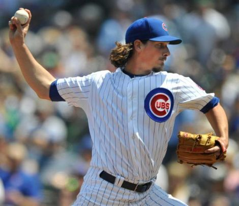 Paul Beaty/AP Jeff Samardzija winds up a pitch in the first inning against the Yankees Wednesday afternoon at Wrigley.