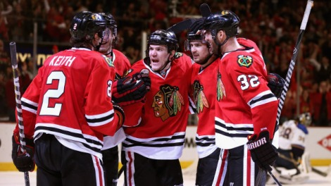 Jonathan Daniel/Getty Images Time to rally the troops: the Blackhawks' latest season could be seen as a success in many ways but the dissatisfaction of not repeating as Stanley Cup champions will remain.