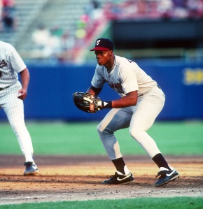 Credit: vesphoto.net Frank Thomas playing his first major league game in 1990. Years later, the dazzling debut of Jose Abreu comes at an appropriate time as the Big Hurt enters Cooperstown.