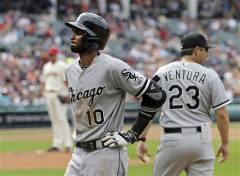 Mark Duncan/Associated Press The Chicago White Sox's Alexei Ramirez walks to the dugout with a back injury in the fourth inning Saturday against the Cleveland Indians.