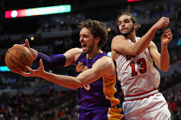 Jonathan Daniel/Getty Images No longer rivals for rebounds, Pau Gasol will now learn to share the post with Joakim Noah after announcing his plans to sign with the Chicago Bulls over the weekend.