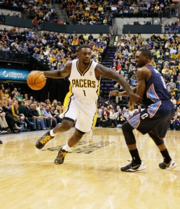 Brian Spurlock/USA TODAY Sports Lance Stephenson, back in December 2013, driving on the team who signed him to a new three-year deal in July 2014, Charlotte.