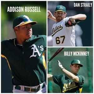 @Cubs/Twitter The Cubs' haul from their blockbuster trade with the Oakland A's this weekend.