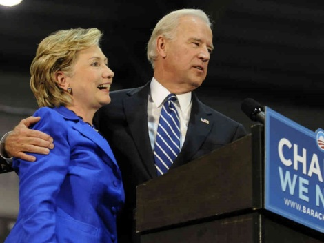 Jeff Fusco/Getty Images Hillary Clinton and Joe Biden are both possible contenders to the presidential throne, as NBA teams gear up for their own campaigns with free agent signings and trades comparisons are hard to overlook