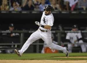 Brian Kersey/Getty Images Adam Eaton scores on an RBI single hit by Jose Abreu during the fourth inning against the Minnesota Twins at U.S. Cellular Field Friday night.