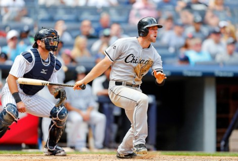 Jim McIsaac/Getty Images Conor Gillaspie of the White Sox follows through on a sixth inning, two-run home run against the New York Yankees at Yankee Stadium Sunday.
