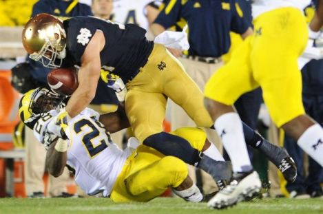 Melanie Maxwell/AnnArbor.com Notre Dame and Michigan collides again this week, the last time in likely a long time for these long-time rivals but it still stands as the highlight game this week in the Big Ten.
