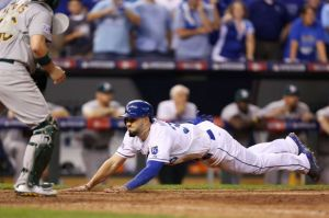 Ed Zurga/Getty Images The Royals' Eric Hosmer slides home in their Wild Card game win over Oakland, which started the team's improbable postseason run.