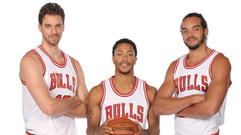 Randy Belice/NBAE via Getty Images The Chicago Bulls' version of a Big 3 -- (from L) Pau Gasol, Derrick Rose and Joakim Noah, look to finally break the franchise through to the top of the Eastern Conference.