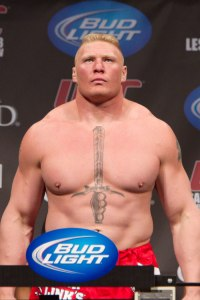 Courtesy: UFC Brock Lesnar -- more of an ideal athlete for a wrestling to fighting transition.