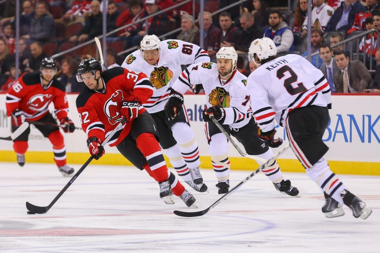 NHL: Chicago Blackhawks at New Jersey Devils