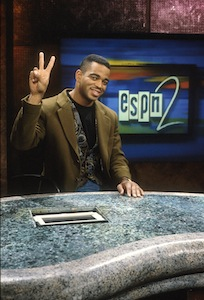 ESPN Front Row Young Stu in his first year at ESPN during the first year of ESPN 2, 1993.