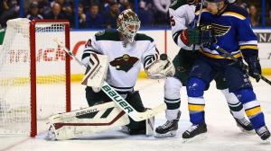 Dilip Vishwanat/Getty Images Wild goalie Devan Dubnyk made the difference for his club in Round 1 against St. Louis