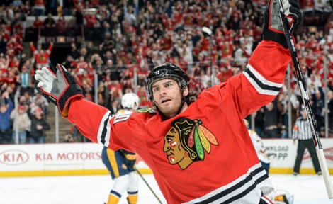 Courtesy: NHL.com Brandon Saad celebrates a goal in the Hawks' series against Nashville, his strong two-way play this postseason will be a key to beating top-seeded Anaheim.
