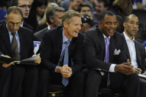 Jose Carlos Fajardo/Bay Area News Group Steve Kerr's coaching made the difference in Golden State being a contender to being a champion. Assistant Alvin Gentry (right) has recently been hired to coach New Orleans.