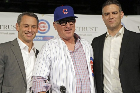 Associated Press The current brain-trust of the Chicago Cubs (from L) general manager Jed Hoyer, manager Joe Maddon and team president Theo Epstein. Success has come with their teaming up in Chicago but how will they turn 2015's breakthrough into 2016's championship?