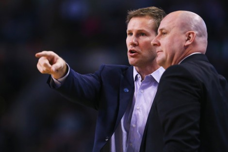 Getty Images Bulls first-year coach Fred Hoiberg (pictured left) has been learning the NBA game on the fly with help from former Spurs top assistant Jim Boylen.