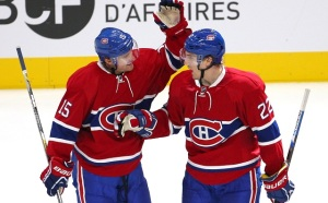 Jean-Yves Ahern/USA TODAY Sports Tomas Fleischmann and Dale Weise celebrate in Montreal earlier this season.