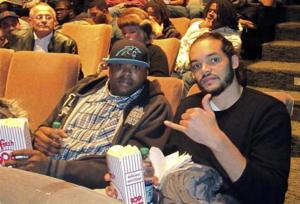 "REUTERS/Carolyn Tate Angel Lenny Cooke (L), who was ranked the No. 1 high school basketball player in the U.S. in 2000, poses with Joakim Noah of the Chicago Bulls, who is also the executive producer of the movie ""Lenny Cooke,"" at the film's premiere at the Gene Siskel Film Center in Chicago in  December 2013."