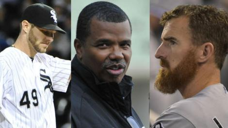 Credit: nbcchicago.com The three-way conflict between Chris Sale, Adam LaRoche and White Sox vice president Kenny Williams (middle) set the tone for this dysfunctional season.