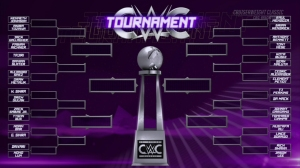Courtesy: WWE Network The CWC bracket as it was announced prior to Round 1, which began in July.