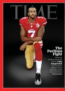 Colin Kaepernick on the cover of Time Magazine, released this week.
