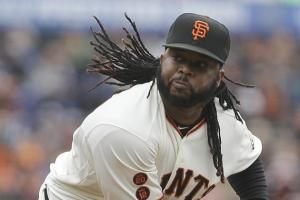 Associated Press Johnny Cueto - a tough Cubs opponent dating back to his time in Cincinnati - could possibly start two games this series.