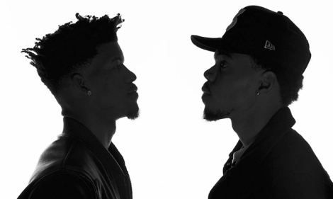 ESPN Face off: Two of the Chi's most recognizable faces today: Jimmy Butler (L) and Chance the Rapper as depicted in ESPN the Magazine's latest Entertainment Issue.